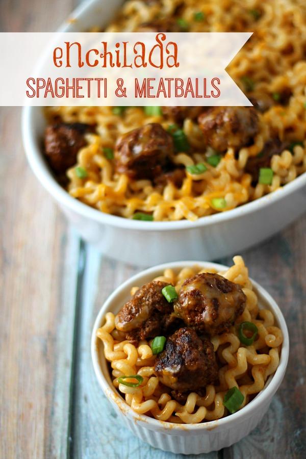 Enchilada Spaghetti & Meatballs