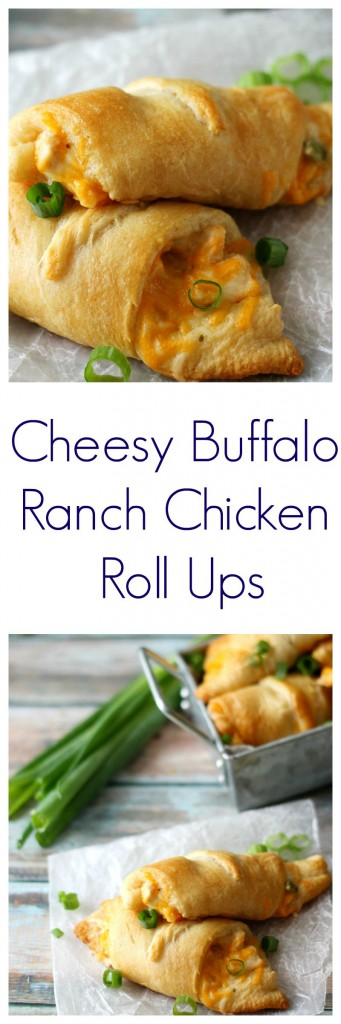 Delicious Cheesy Buffalo Ranch Chicken Roll Ups