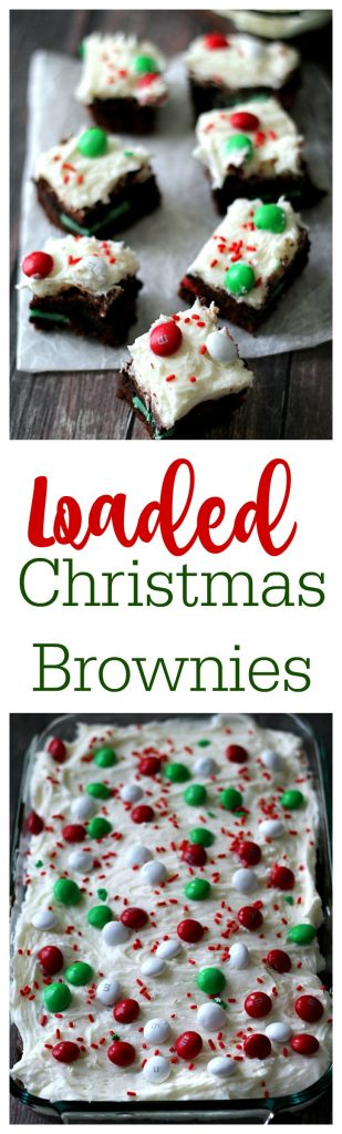 Loaded Christmas Brownies, yum!