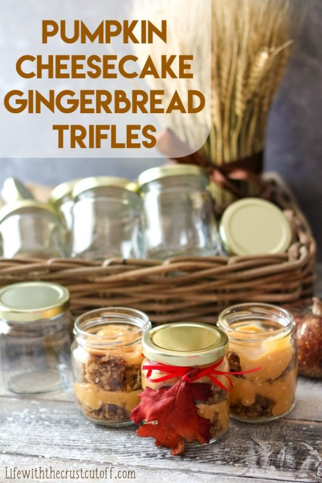 Pumpkin Gingerbread Trifle In Jars, yum