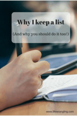 Keeping a list can make a huge difference to the way your day turns out. Find out my top 5 reasons to keep a list.