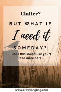 But what if I need it someday?