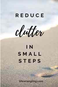The importance of small steps in the decluttering process