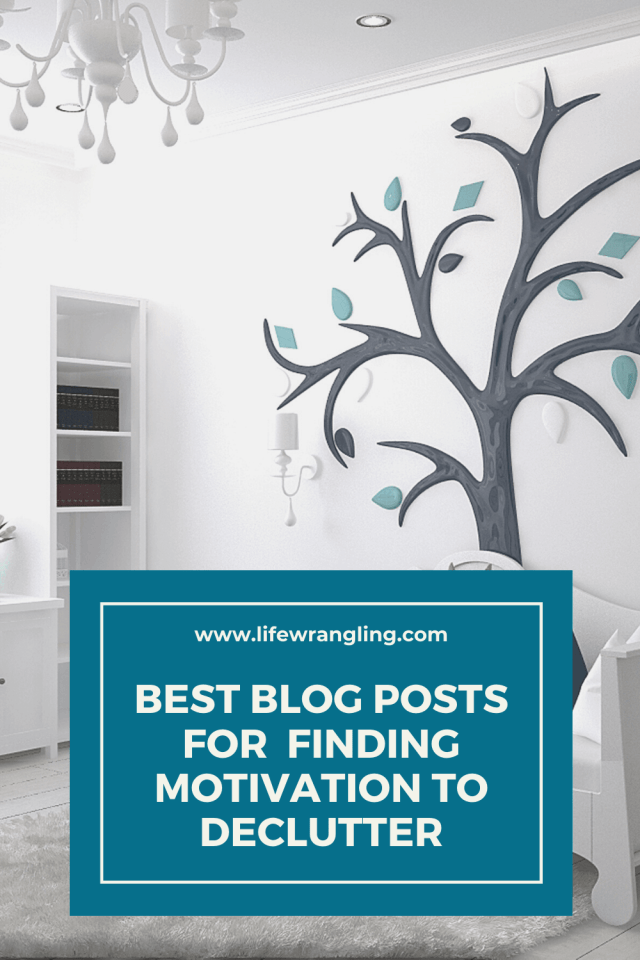 The best blog posts on finding the motivation to declutter.