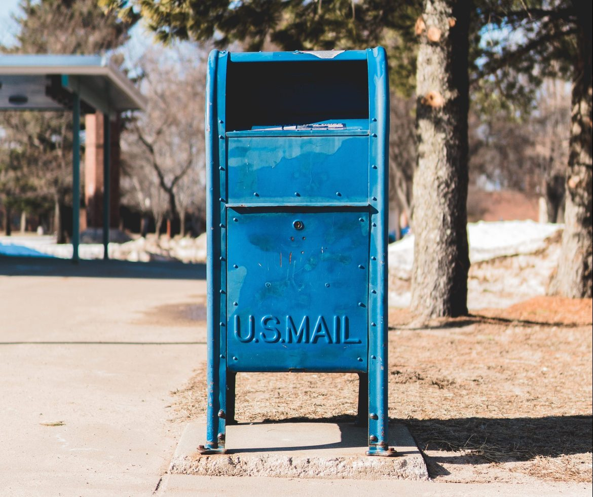 Don't put an ID in the blue US Mailboxes