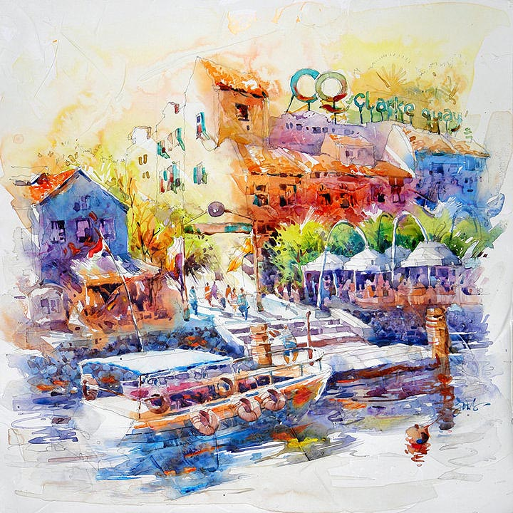 Jack Tia Kee Woon Singapore Watercolour Acrylic Paintings