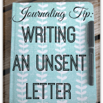 journaling unsent letter