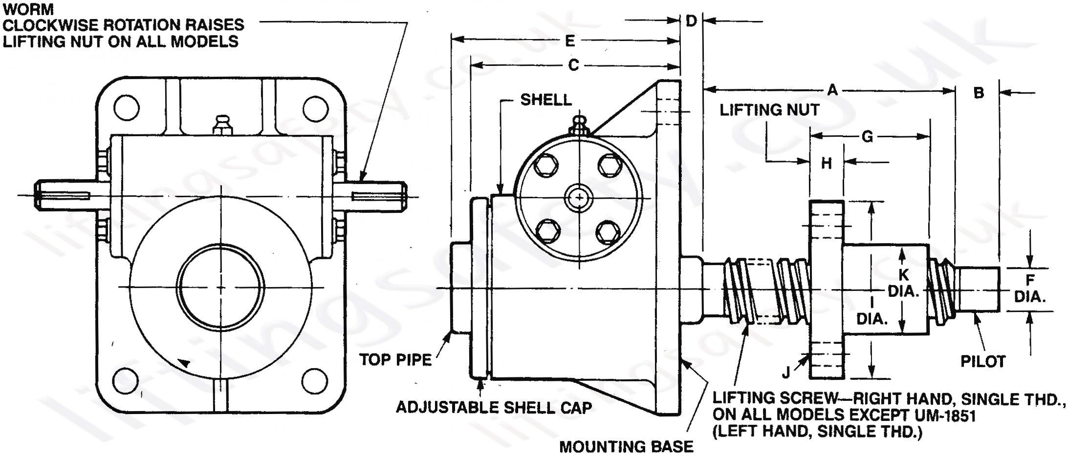 Machine Screwjack Actuator 2t To 150t