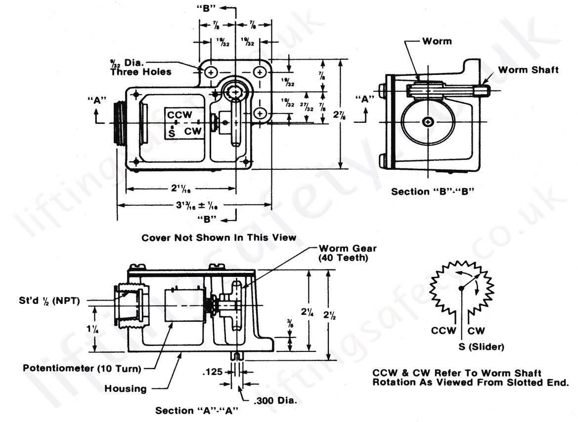 Ska T Series Position Feedback Potentiometer