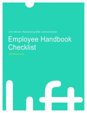 Employee Handbook Checklist Lift Internal