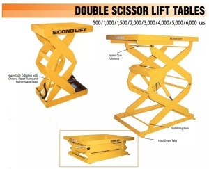 Econolift double scissor lift table