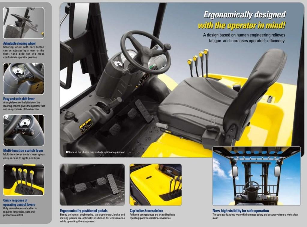 Hyundai ergonomics 35DS-7E