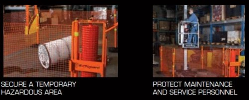 Portable safety zone - protection kit