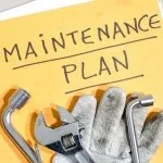 Tools on a folder of maintenance plan