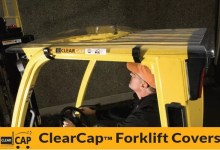 Clearcap forklift cover