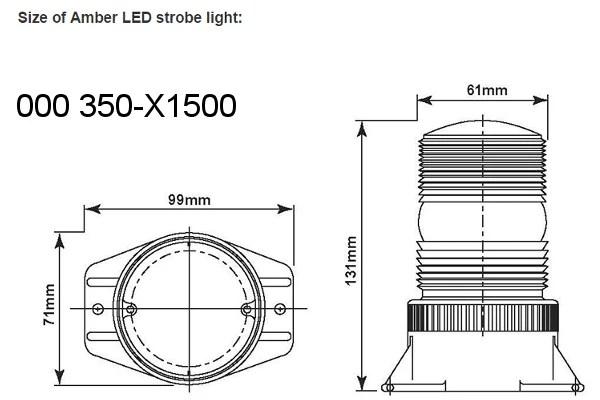 LED Amber Strobe Light