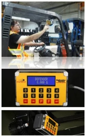 Forklift impact monitor