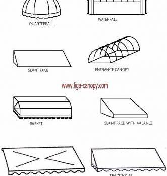 bentuk canopy kain