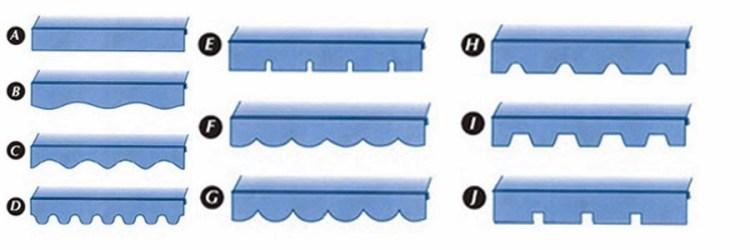 bentuk kanopi kain