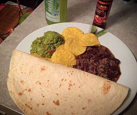 Receita de Chili e Guacamole
