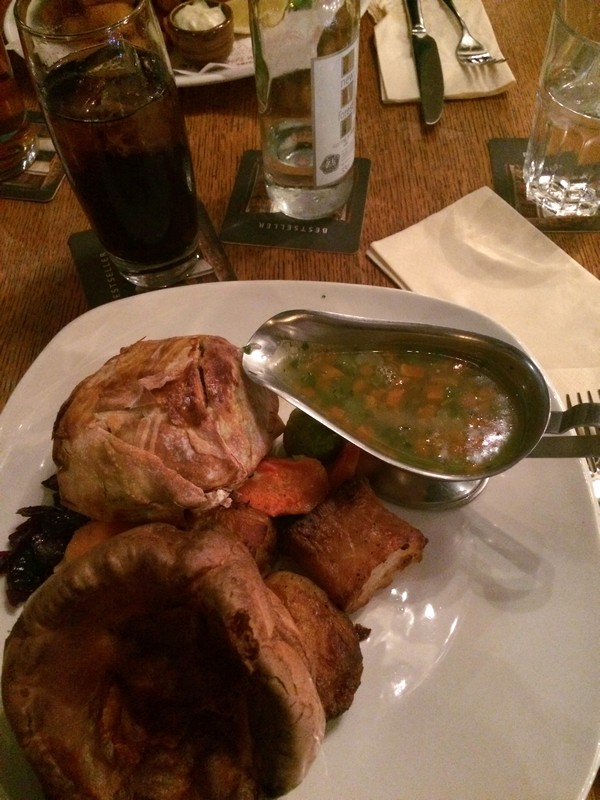 Comer em Londres - The Rose and Crown Pub - Sunday Roast