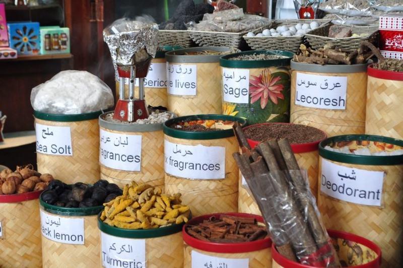 Dubai de graça - Especiarias no Souk em Dubai