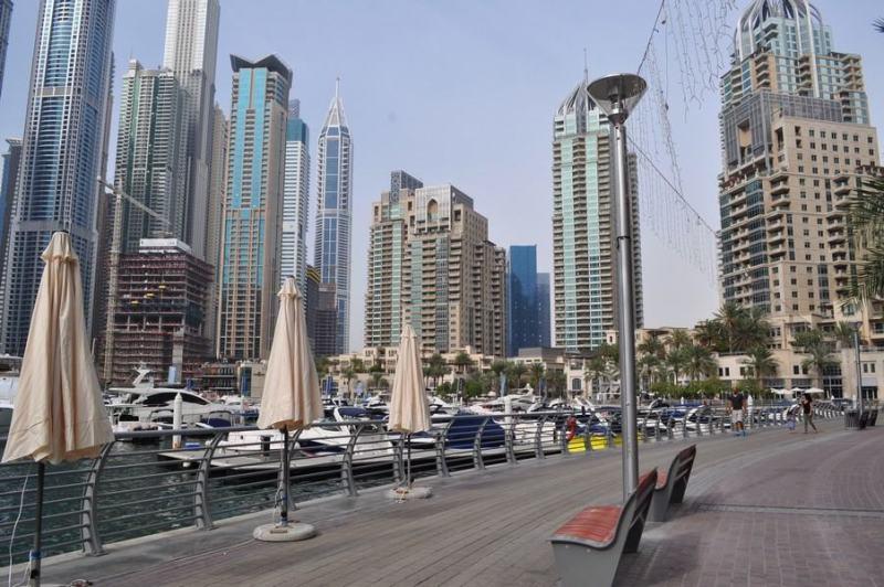 Dubai de graça - Os barquinhos do porto da Marina Walk