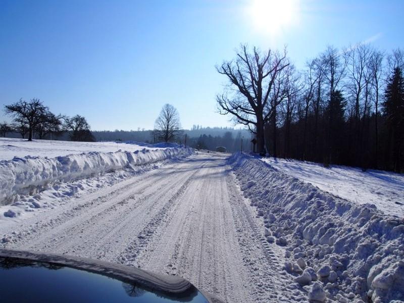 Dobel na Alemaha - Muita neve na estrada