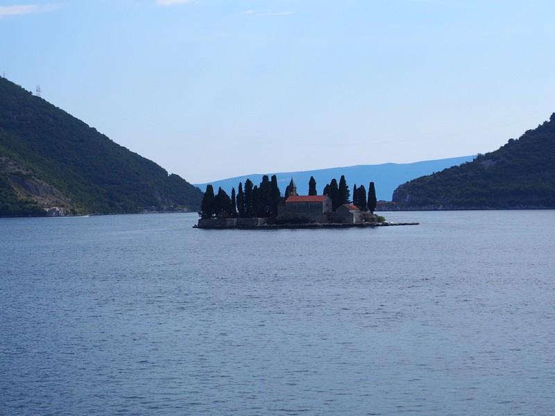 Perast Montenegro - Vista da ilha São Jorge