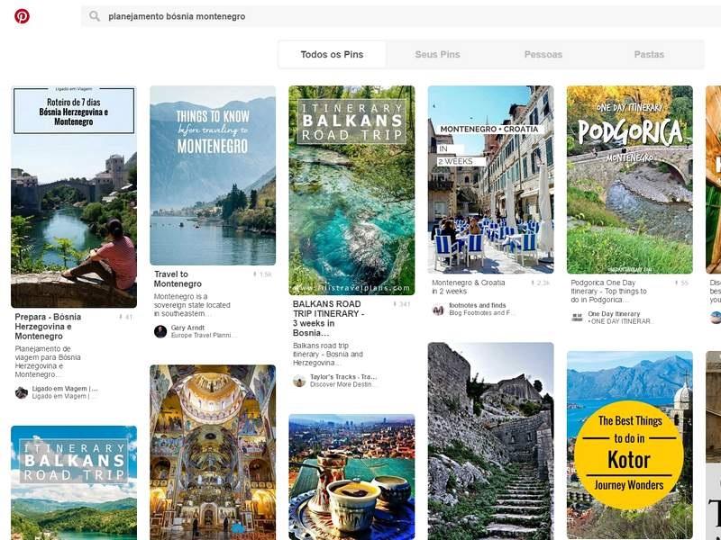 Planejamento Viagem - Pesquisa de roteiro no Pinterest