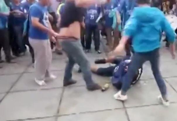 VIDEO: Fanáticos chinos golpean brutalmente a seguidor de equipo rival