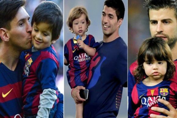 Los hijos de Messi, Suárez y Piqué, primer entreno en la escuela del Barça