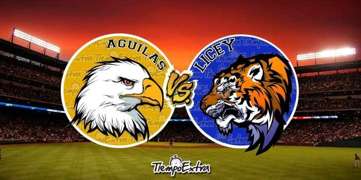 Los Tigres Del Licey visitan a Las Aguilas Cibaeñas