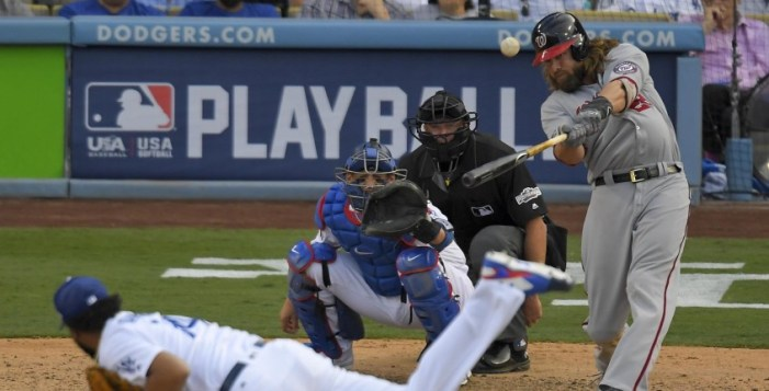 Washington derrota a Dodgers y toma ventaja 2-1 en la serie divisional de la Liga Nacional