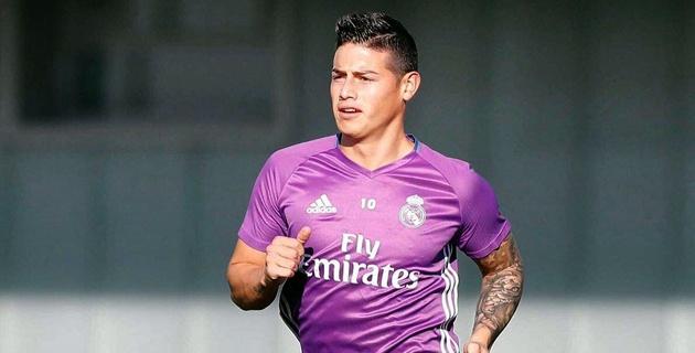 James vuelve a los entrenamientos con el Real Madrid