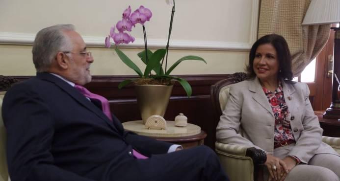 Presidente de Lidom se reúne con Vicepresidenta de la República