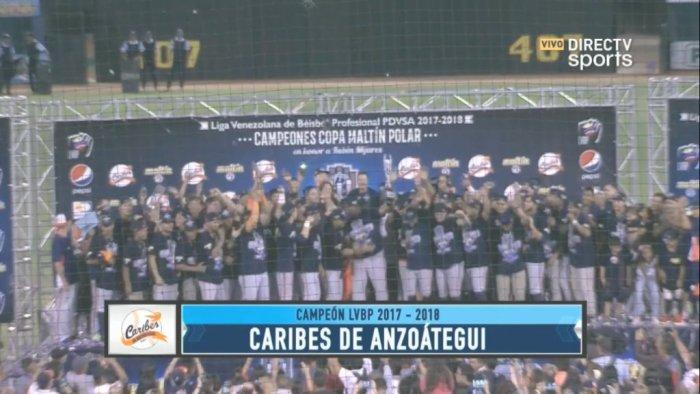 Caribes de Anzoátegui conquista la corona del béisbol venezolano