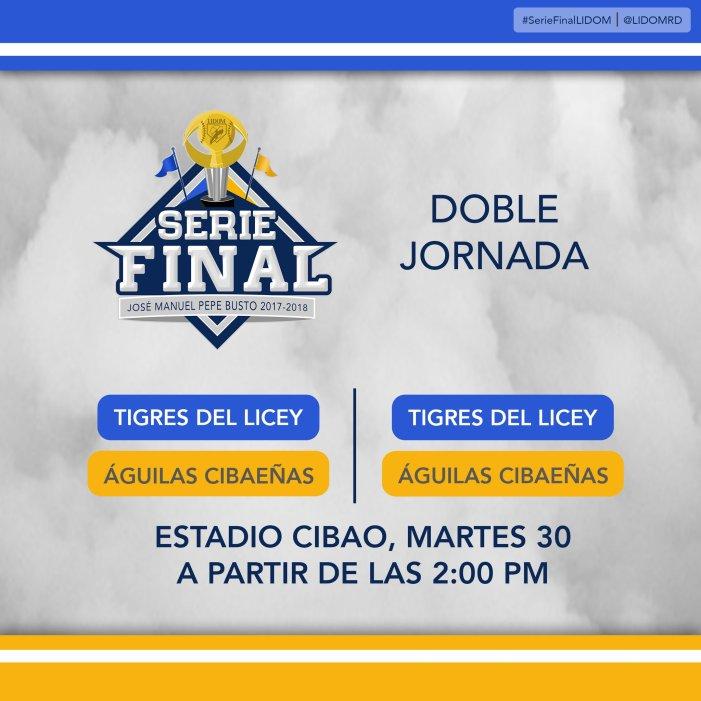 Dos partidos en el Estadio Cibao para el Martes 30