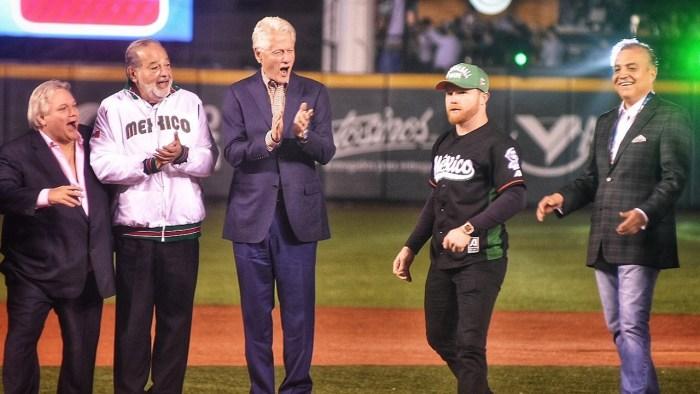Hicieron acto de presencia en la Serie del Caribe Bill Clinton, Carlos Slim y Canelo Álvarez
