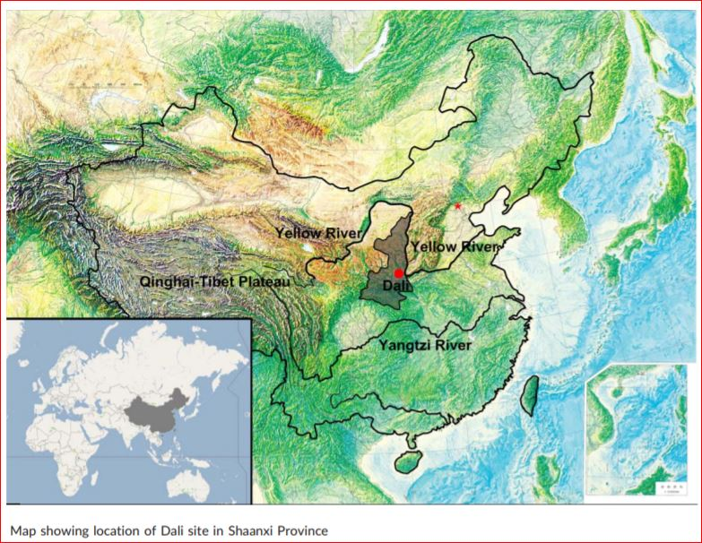 Map showing location of Dali site in Shanxi Province. Credit: Sheela Athreya