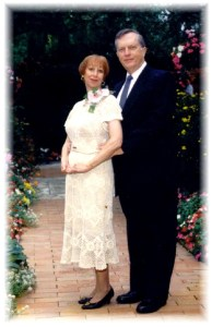 Marriage ceremony re-dedication at the Swedenborgian Church, Wayfarers Chapel, Rancho Palos Verdes, CA, which we considered necessary after the events described in 'In Psychic Defense.'