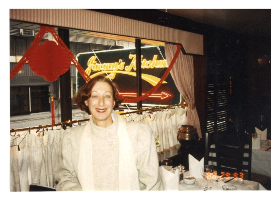 Rev. Diane Chapin in world-famous Jimmie's Kitchen, Kowloon, Hong Kong