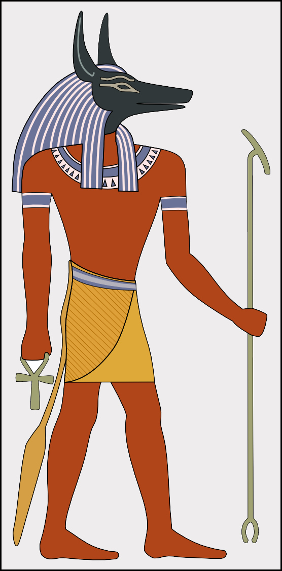 Have the tools used to build ancient monuments been staring us in the face all along? Image of Anubis holding a Was-sceptre