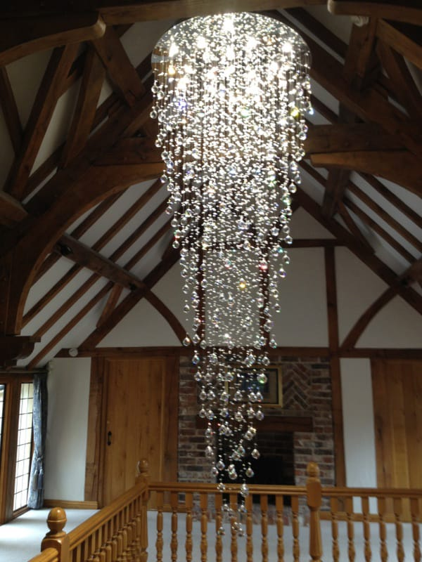Crystal Stairwell Light 018 Lightstyle Interiors