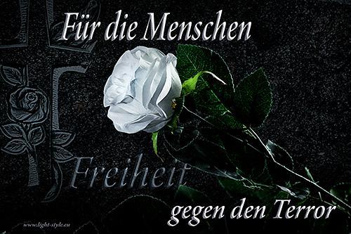 terror, widerstand, weiße Lilie, Kampf dem terror, Die weiße Rose – Widerstand gegen Terror, Fotostudio Light-Style`s Blog