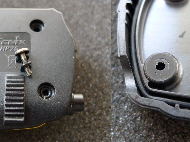 Fenix HP25 - seals and screws