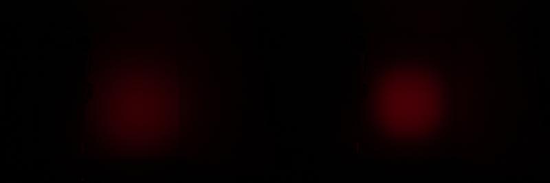 Petz Tikka red led mode - R+ vs RXP