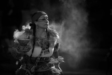 Native American Dancer, Seattle Mayday Rally