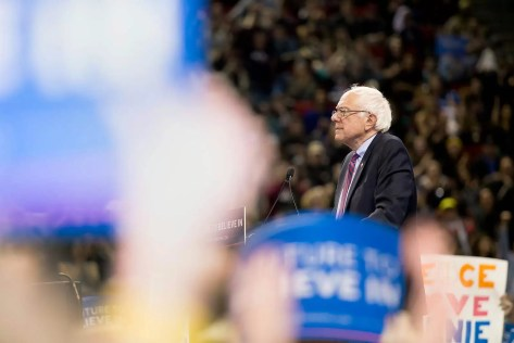 bernie-sanders-pauses-while-crowd-cheers-and-raises-signs