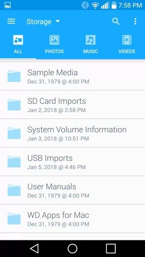Using the WD My Cloud App, you get basic file-browser functionality. It's not exactly beautiful, but it's familiar and easy to use.